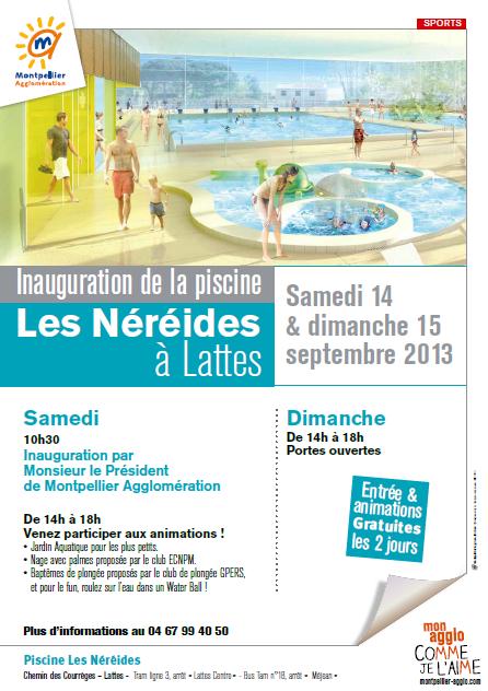 Inauguration de la 13e piscine d 39 agglom ration les - Piscine ouverte le dimanche ...