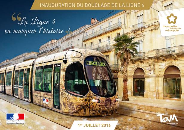 Inauguration du bouclage de la ligne 4 du tramway montpellier m diterran e m tropole - Horaire tram montpellier ...
