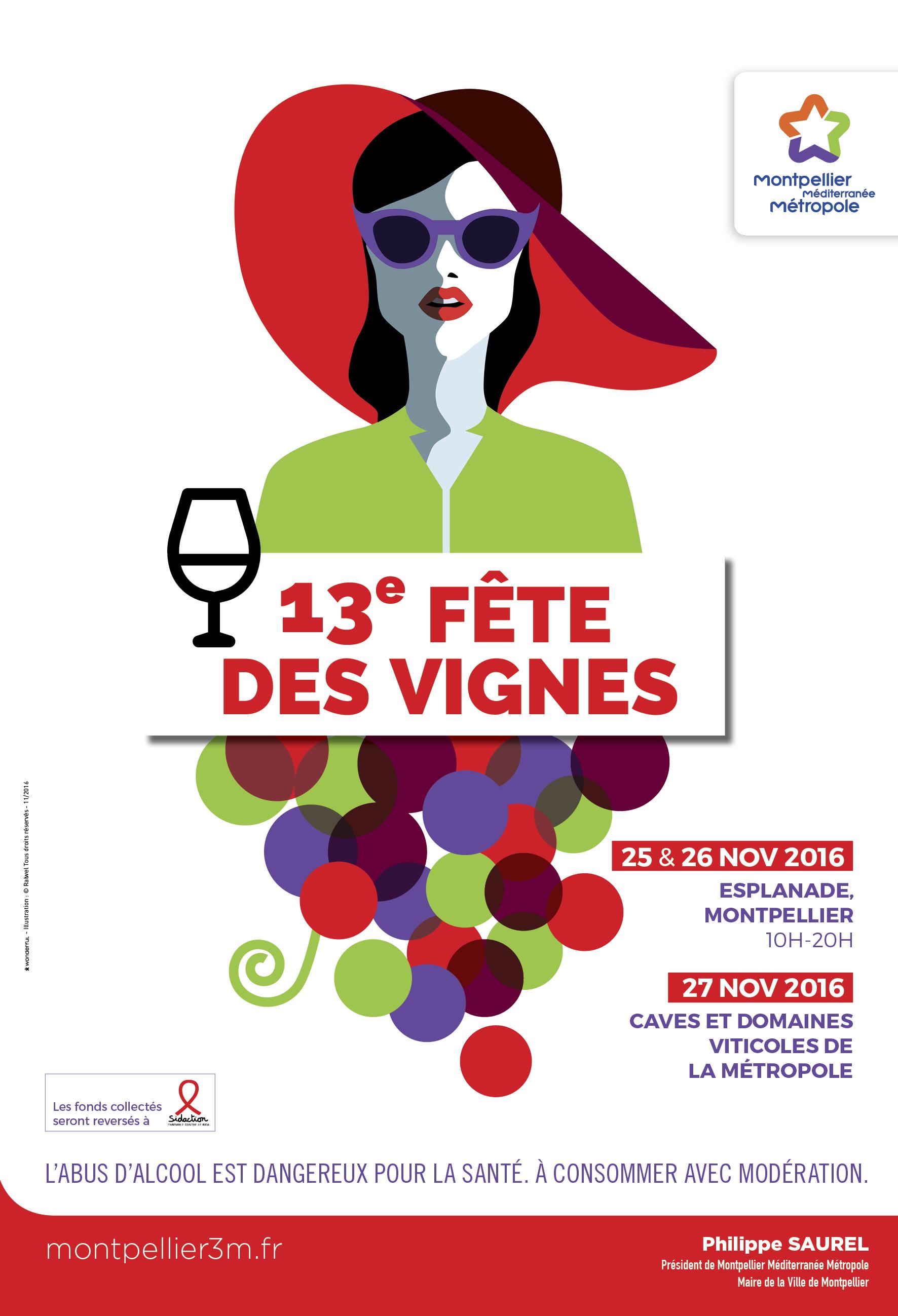 Affiche fête des vignes 2016