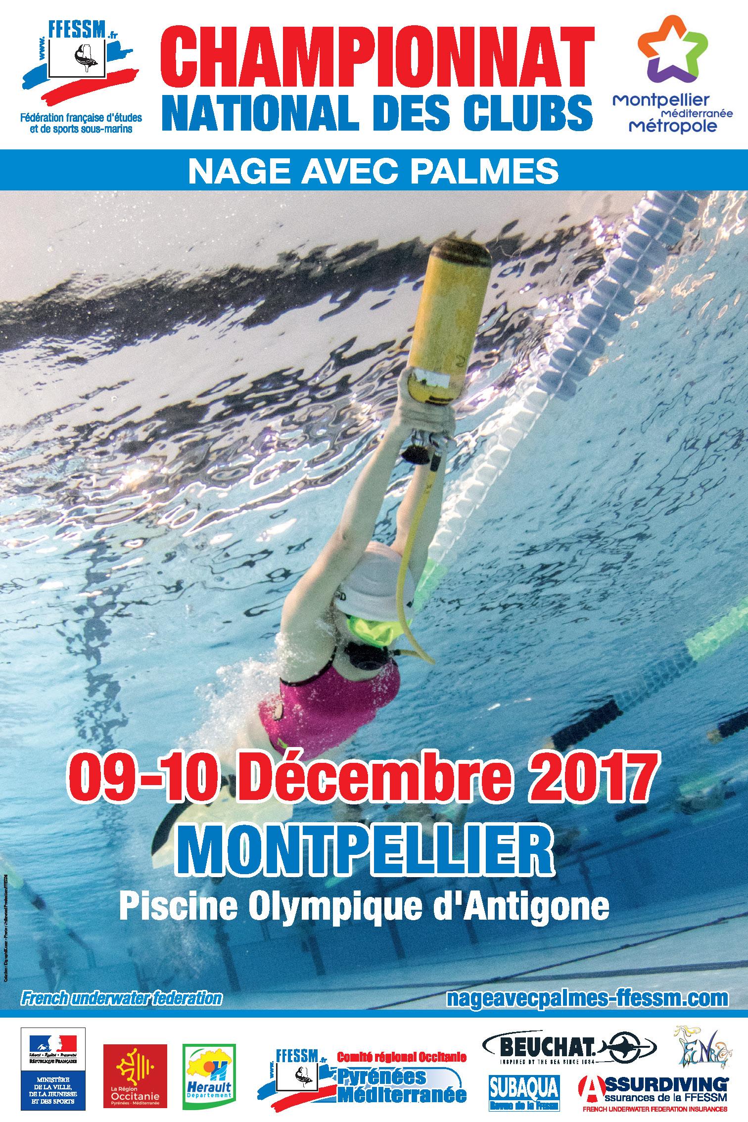 Championnat de nage avec palmes montpellier m diterran e - Nager en piscine avec des palmes ...
