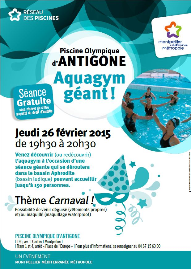 Aquagym g ant et d guis la piscine olympique d 39 antigone montpellier m diterran e m tropole - La piscine olympique montpellier ...