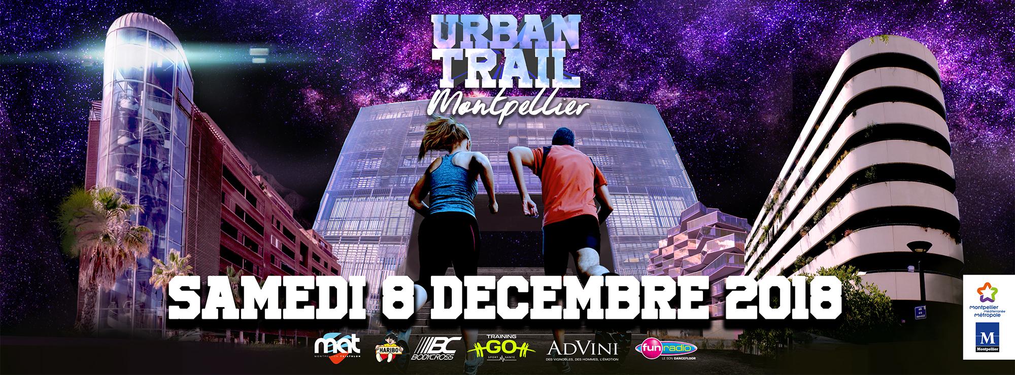 Urban trail nocturne de Montpellier