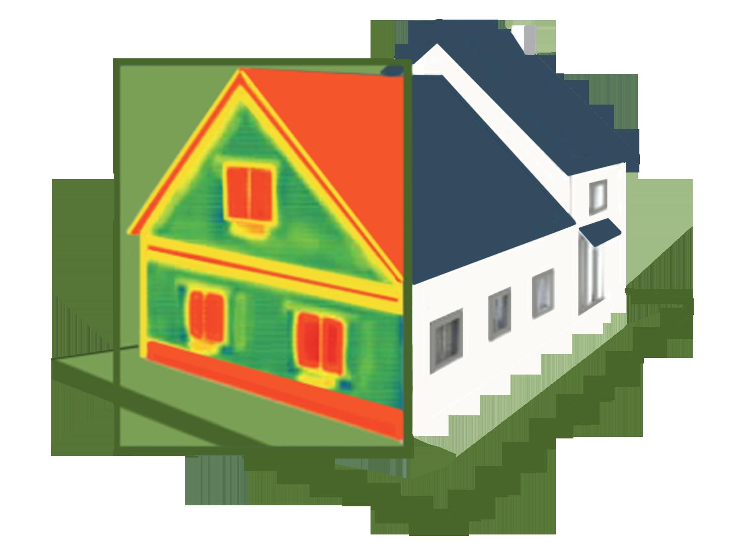 A la poursuite de la chaleur perdue : Une maison avec un effet caméra thermique