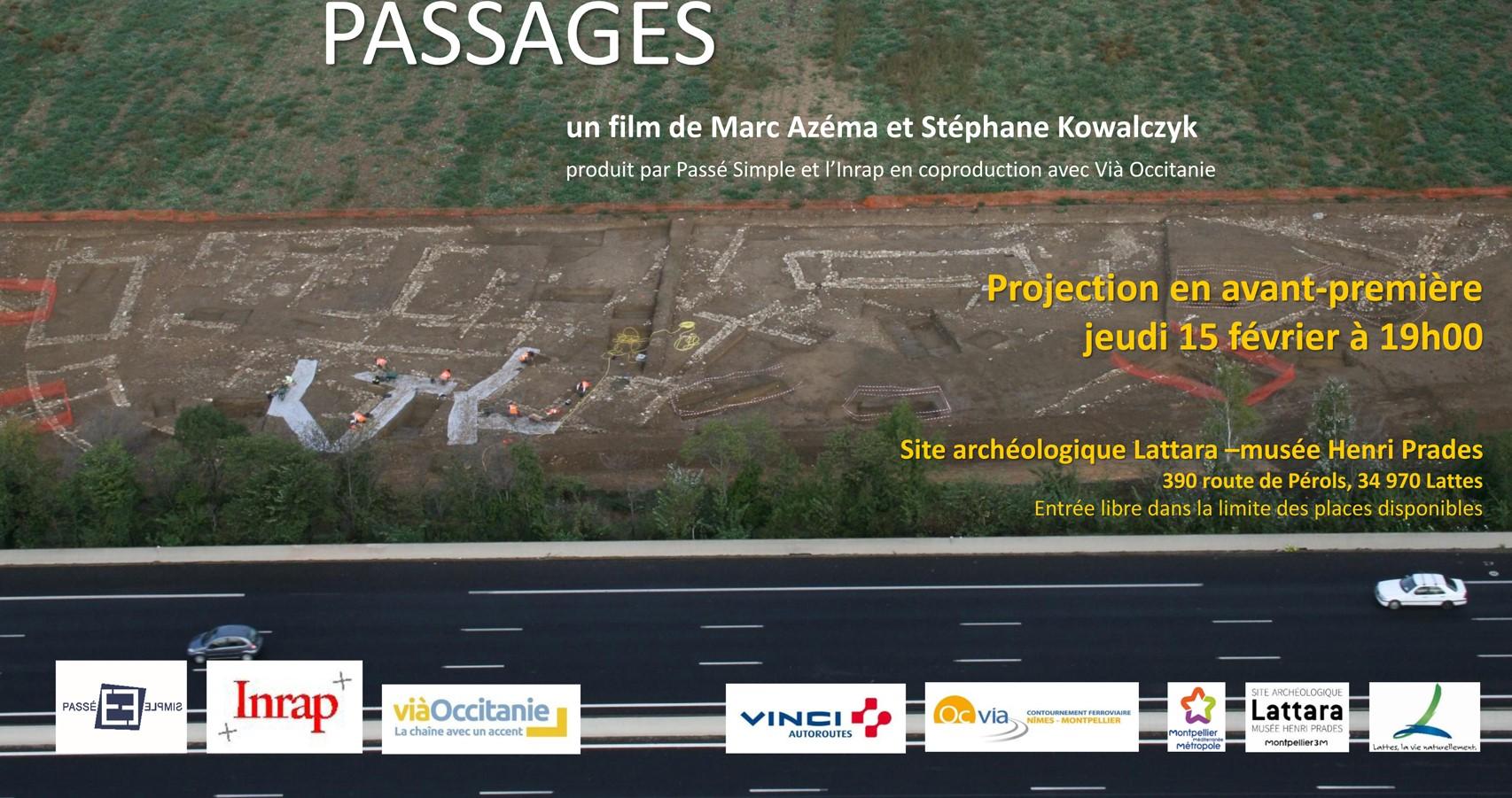 """Le film """"Passages"""" projeté en avant première au site Lattara le 15 février"""