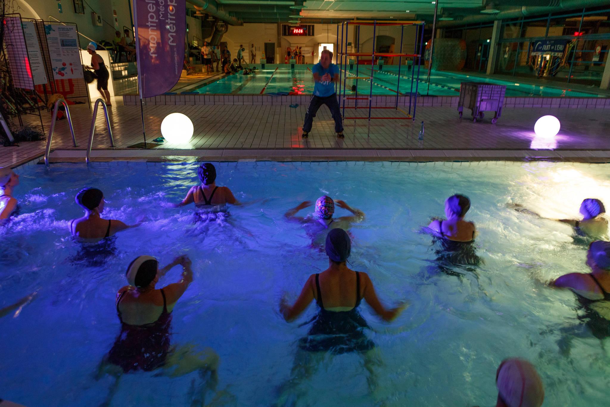 Les nuits de l 39 eau dans les piscines montpellier for Piscine neptune montpellier