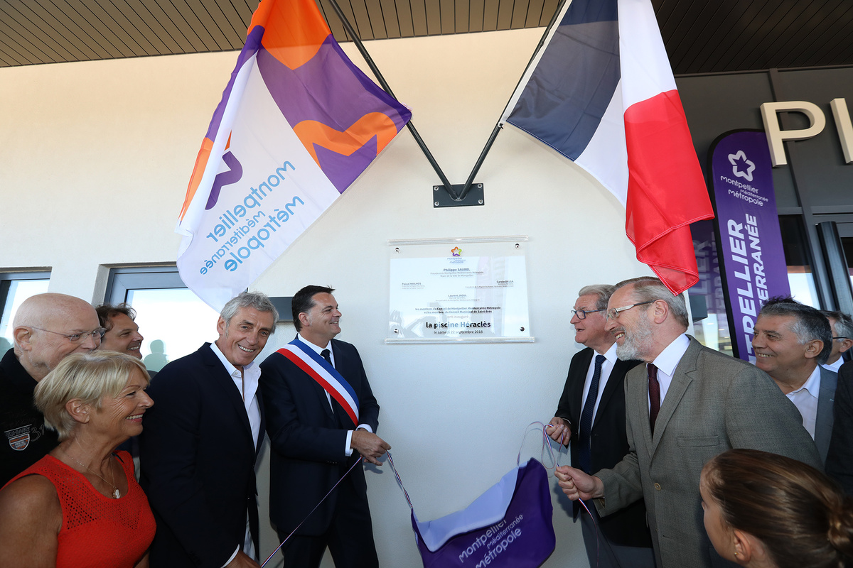 Inauguration piscine Saint-Brès