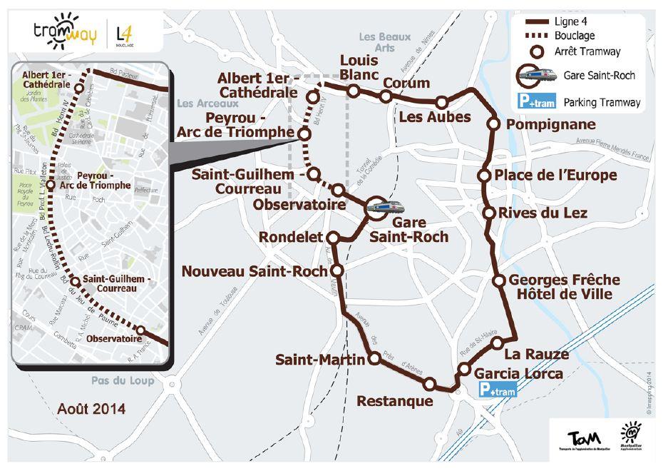 Ligne 4 de tramway le chantier avance montpellier for Maison de l agglomeration montpellier