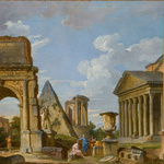 Giovanni Paolo Pannini, Ruines antiques, 1733, Montpellier, musée Fabre.