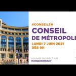 Embedded thumbnail for Conseil de Métropole du 7 juin 2021