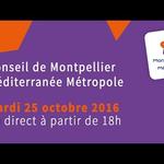 Embedded thumbnail for Conseil de Montpellier Métropole du mardi 25 Octobre 2016