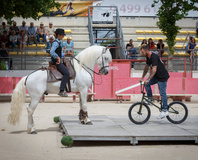 Baillargues - Quand le BMX rencontre le cheval