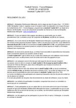 Règlement jeu concours match France / Belgique