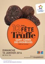 Affiche de la fête de la truffe 2016