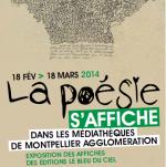 La poésie s'affiche dans le réseau des médiathèques de Montpellier Agglomération