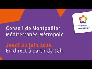 Embedded thumbnail for Conseil de Métropole du jeudi 30 juin 2016