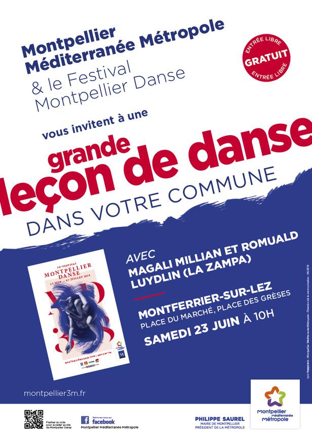 Grande leçon de danse à Montferrier-sur-Lez