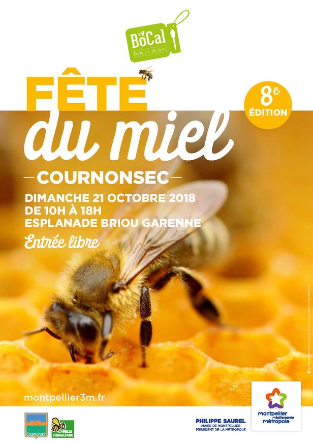 Affiche fête du miel 2018