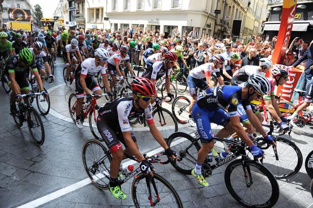 Photo d'illustration : Tour de France 2017, des cyclistes sur la Comédie