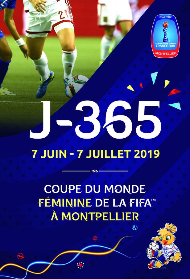 J-365 avant la coupe du monde féminine de la FIFA, France 2019 TM