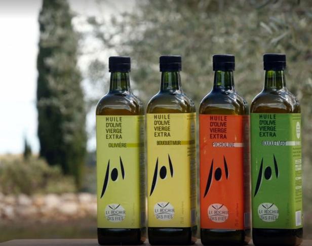 Visite du Rocher des Fées, vignes et olives