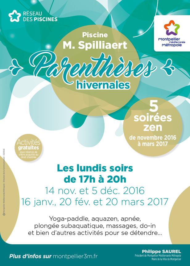 Parenthèse hivernale piscine Spilliaert Montpellier La Chamberte