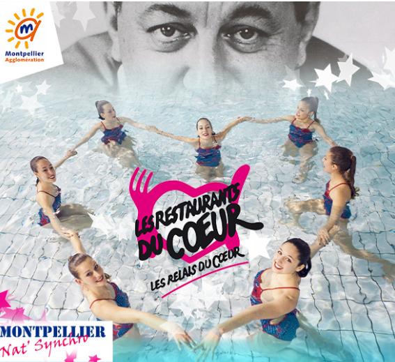 27 avril gala de natation synchronis e au profit des restos du coeur la piscine olympique - La piscine olympique montpellier ...