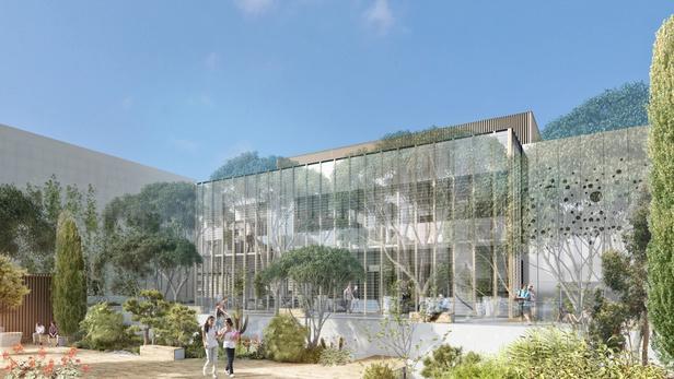 Visite de chantier de la Médiathèque Aimé Césaire