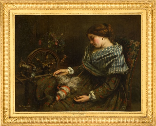 Gustave Courbet, La fileuse endormie© Musée Fabre de Montpellier Méditerranée Métropole - photographie Frédéric Jaulmes