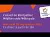 Embedded thumbnail for Conseil de Métropole du mercredi 28 Septembre 2016
