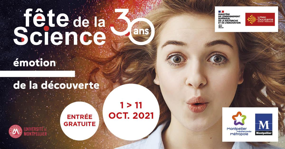 fête de la science 2021 du 1er au 11 octobre