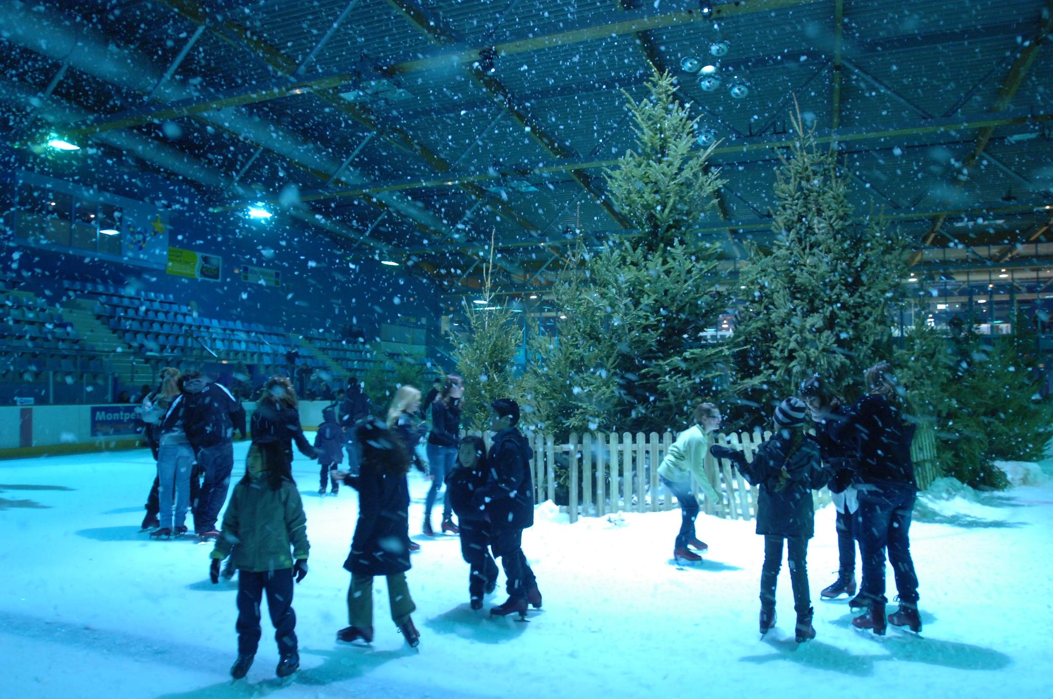 Tempête de neige sur la patinoire Végapolis !!!