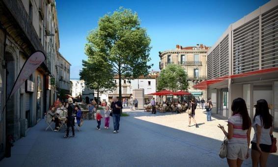 Perspective de la place Laissac réaménagée