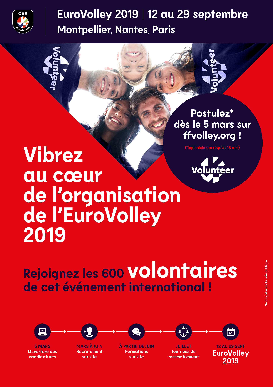 Devenez volontaires pour l'EuroVolley 2019