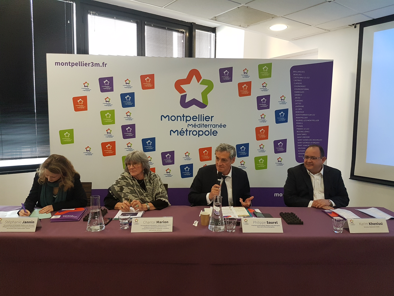 Stéphanie JANNIN, Chantal MARION, Philippe SAURE et Karim KHENISSI